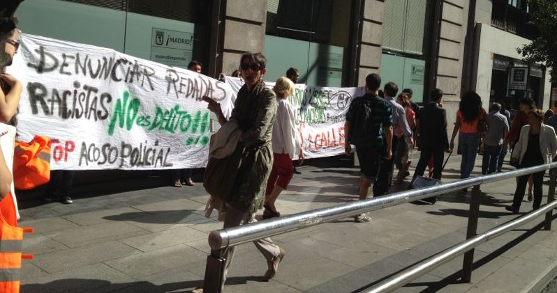 Concentración frente a los Juzgados, en Madrid, el viernes 14 de septiembre de 2012