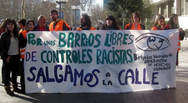 Concentración, el 13 de marzo de 2012, frente a los juzgados de Plaza de Castilla