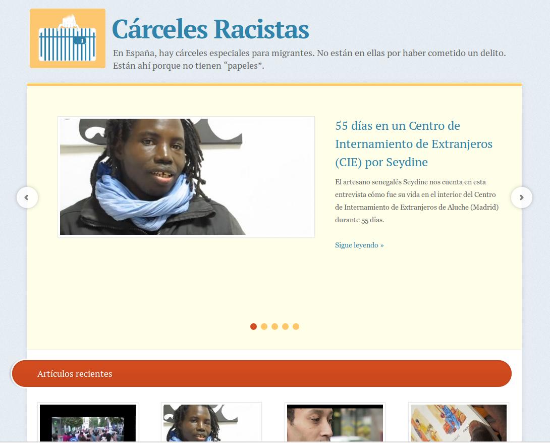 Página principal de carcelesracistas.org