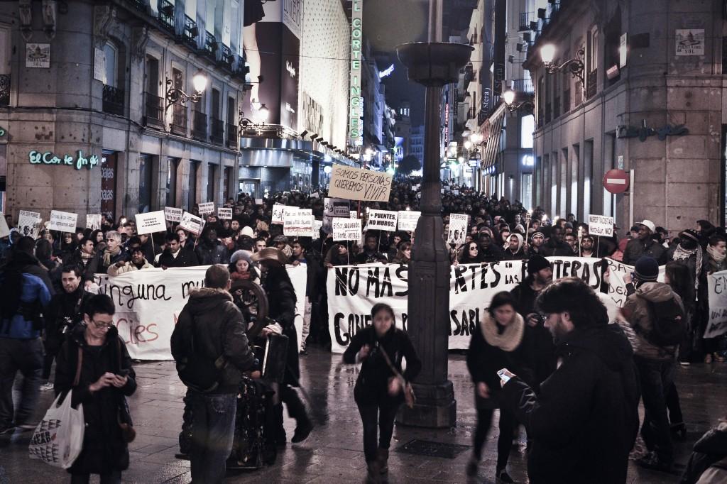 Protesta en Madrid contra los muertos de Ceuta